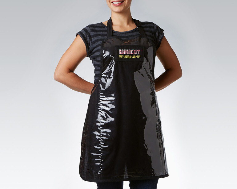 Never mess up your best t-shirt again with glue, by wearing a Roarockit shop apron