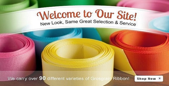 Buy Ofray Wholesale Ribbon less than Retail. Select Grosgrain, Satin, Metallic, Sheer, Glitter and Polka Dot Ribbons.