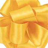 Yellow Chiffon Wired Satin Ribbon
