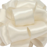 Ivory Wired Satin Ribbon