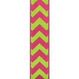 Bold-Wired Edge Shocking Pink / Citrus Chevron
