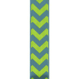 Bold-Wired Edge Turquoise / Citrus Chevron