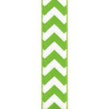 Wired Edge Citrus Chevron Ribbon