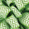 Apple Green Grosgrain Chevron Ribbon