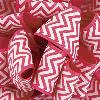 Shocking Pink Grosgrain Chevron Ribbon
