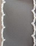 Grey Scalloped Edge