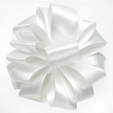 White Double Faced Satin Wholesale Ribbon.