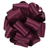 Wine Double Faced Satin Ribbon