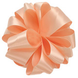 Petal Peach Double Faced Satin Ribbon
