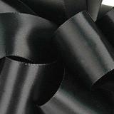 1/8 Black Dainty Satin ribbon