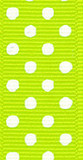 Apple Green / White Grosgrain Confetti Dots