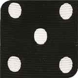 Black / White Grosgrain Polka Dots