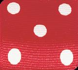 Red / White Grosgrain Polka Dots