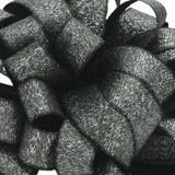 Luxe Black Satin Glitter Ribbon