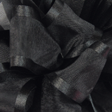 Black Pirouette Sheer / Satin Ribbon