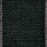 Black Solid Burlap Ribbon