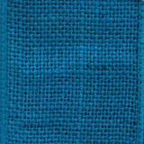 Turquoise Solid Burlap Ribbon