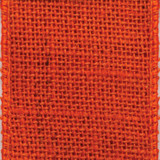 Orange Wired Edge Burlap Ribbon