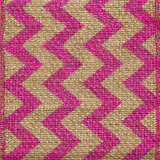 Pink Burlap Zag Striped Ribbon