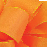 Cantaloupe Wired Woven Ribbon
