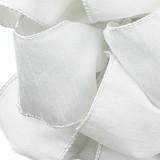 Anisha - White Wired Edge Ribbon