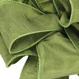 Anisha - Chartreuse Wired Edge Ribbon