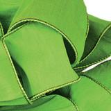 Anisha - Parrot Green Wired Edge Ribbon
