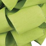Anisha - Clean Green Wired Edge Ribbon