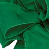 Anisha - Forest Green Wired Edge Ribbon