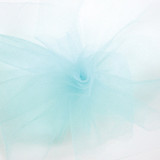 Solid Tulle Fabric - Aqua