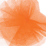 Solid Tulle Fabric - Orange Cream