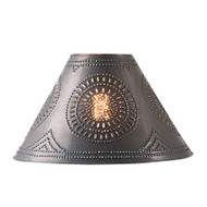 Irvin's Chisel Design Punched Tin Shade In Smokey Black