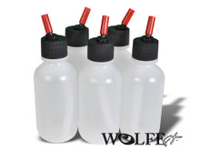 2 oz Airbrush bottle set (5) with blaster caps