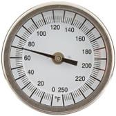 "0-250 F Thermometer w/6"" Stem"