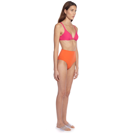 PASTEQUE CLASSIC BRA WITH CITRUS CLASSIC PANT - SIDE
