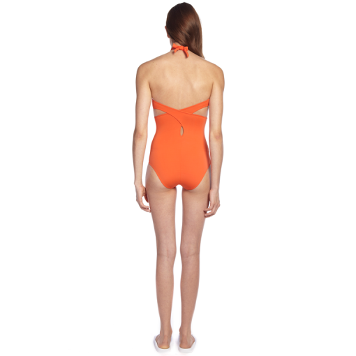 CITRUS WRAP ONE PIECE - BACK