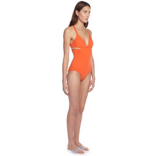 CITRUS TWIST BACK ONE PIECE - SIDE