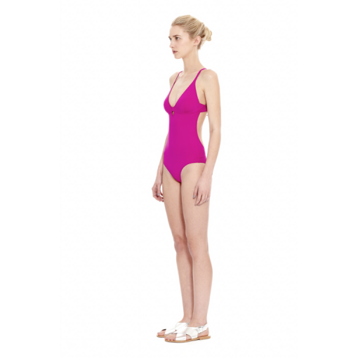 MAGENTA HYBRID ONE PIECE - SIDE