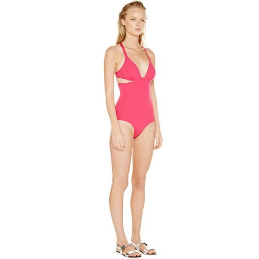 FRAMBOISE TWIST BACK ONE PIECE - SIDE