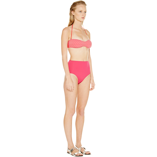 HYDRA CLASSIC BANDEAU WITH FRAMBOISE HIGH WAISTED PANT - SIDE