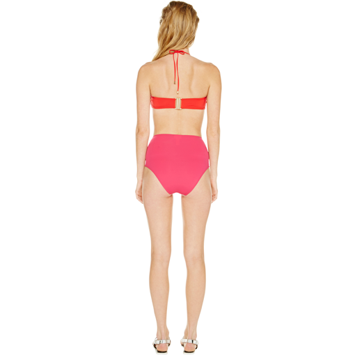 HYDRA CLASSIC BANDEAU WITH FRAMBOISE HIGH WAISTED PANT - BACK