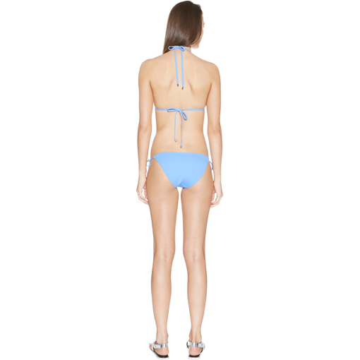 CERULEEN TRANSPARENT TRIANGLE BIKINI - BACK