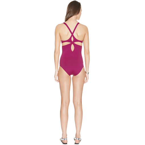 CERISE TWIST BACK ONE PIECE - BACK