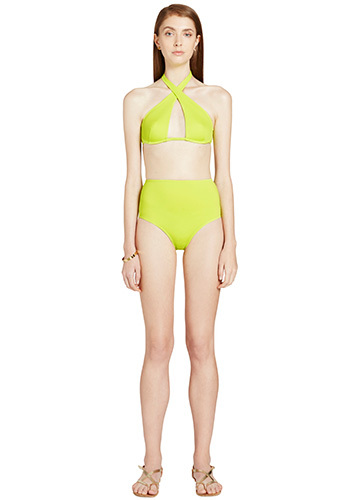 CITRON WRAP BIKINI WITH HIGH WAISTED PANT FRONT