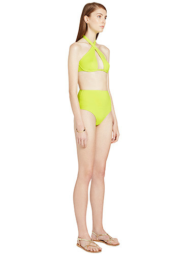 CITRON WRAP BIKINI WITH HIGH WAISTED PANT SIDE