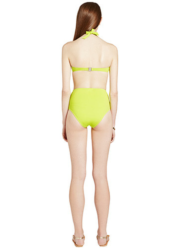CITRON WRAP BIKINI WITH HIGH WAISTED PANT BACK