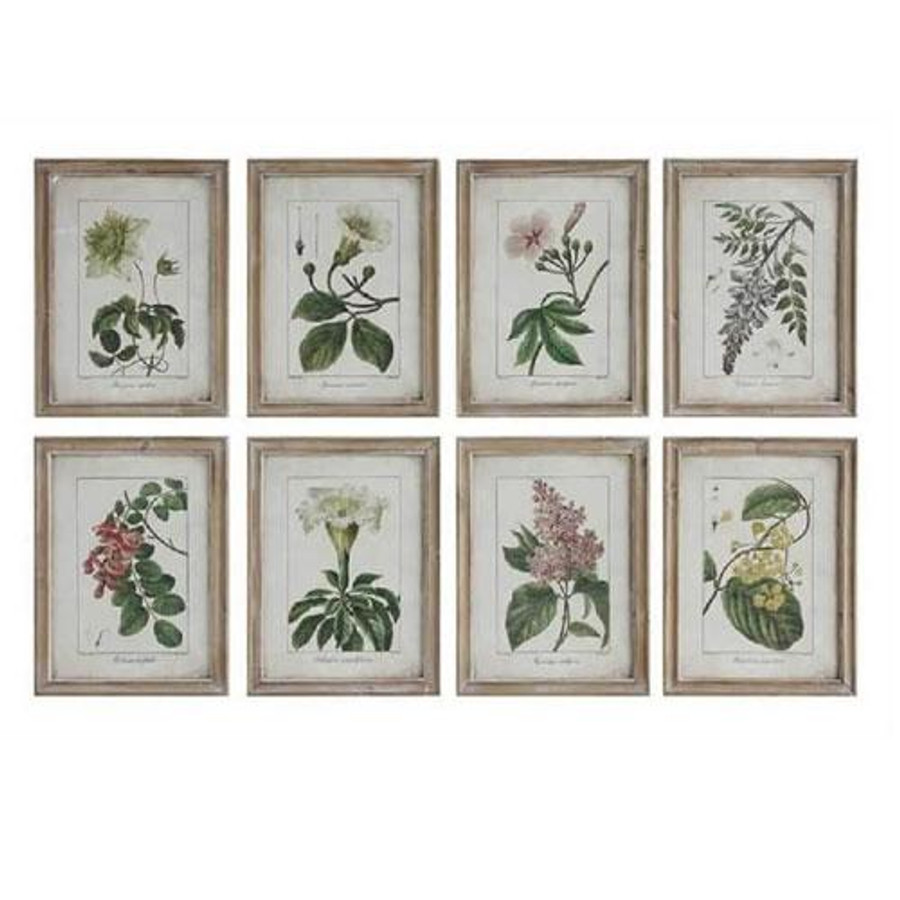 Creative Co Op Wall Decor creative co-op vintage reproduction floral wood framed wall decor
