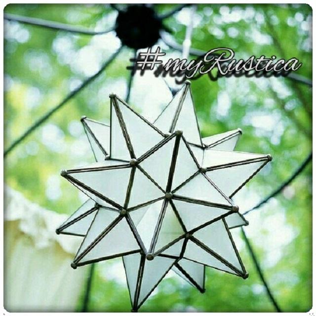 由锡金属和玻璃水晶制成的墨西哥星星灯