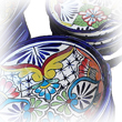 hand painted mexican talavera tableware