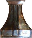 rustic iron range hood